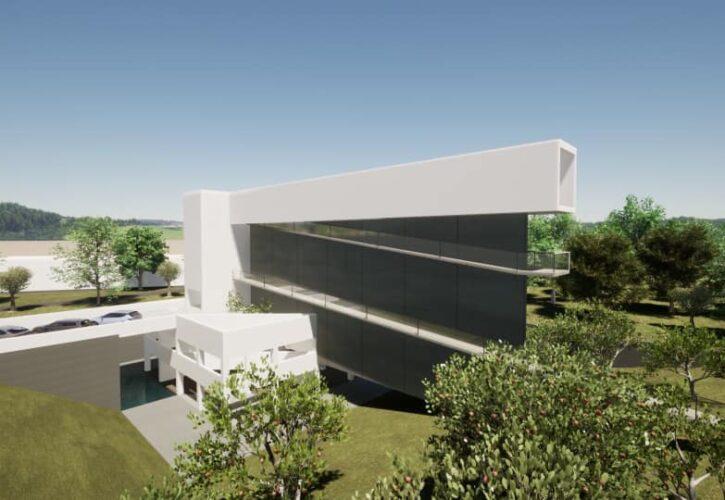 課題「サヴォア邸を眺める家」